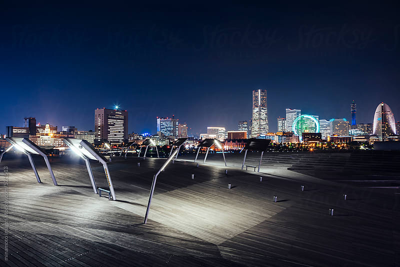 Terminal And Skyline Of Yokohama, Japan by minamoto images for Stocksy United