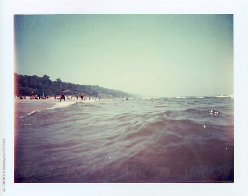 A Summer Day At The Beach Photographed On Expired Polaroid Peel Apart Film by ALICIA BOCK for Stocksy United