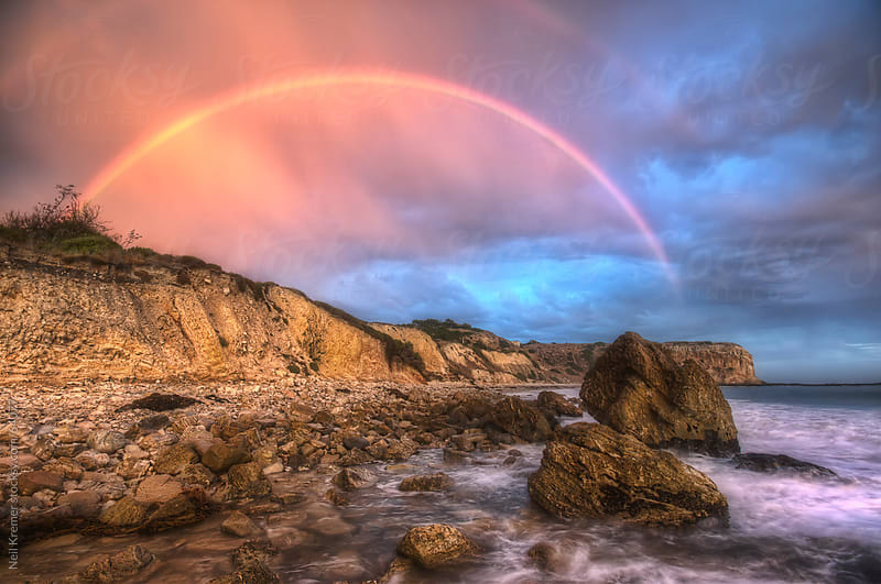 Rainbow coast by Neil Kremer for Stocksy United