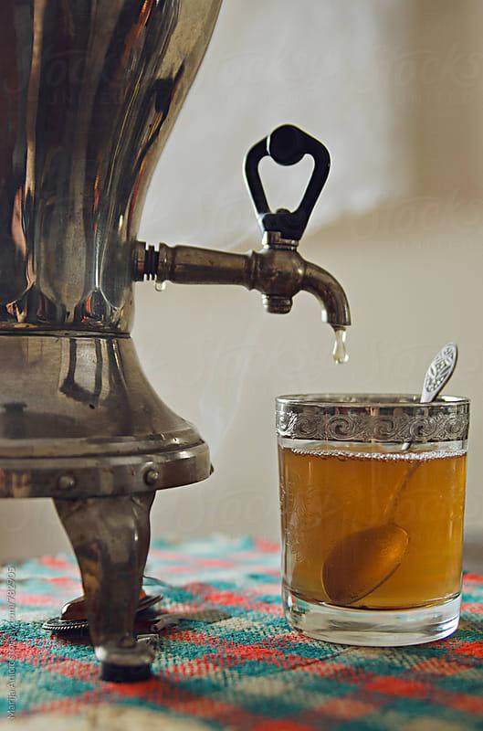 Russian samovar for making tea by Marija Anicic for Stocksy United