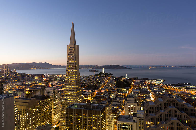 San Francisco Skyline by Simone Anne for Stocksy United