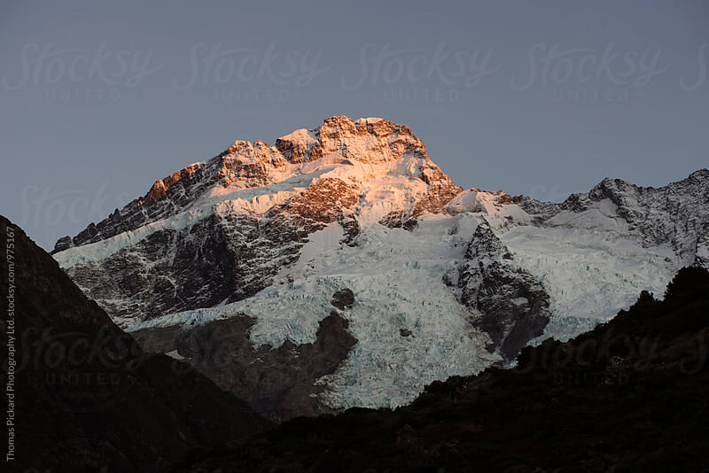 Mt Sefton at sunrise, Aoraki / Mt Cook National Park, New Zealan by Thomas Pickard for Stocksy United