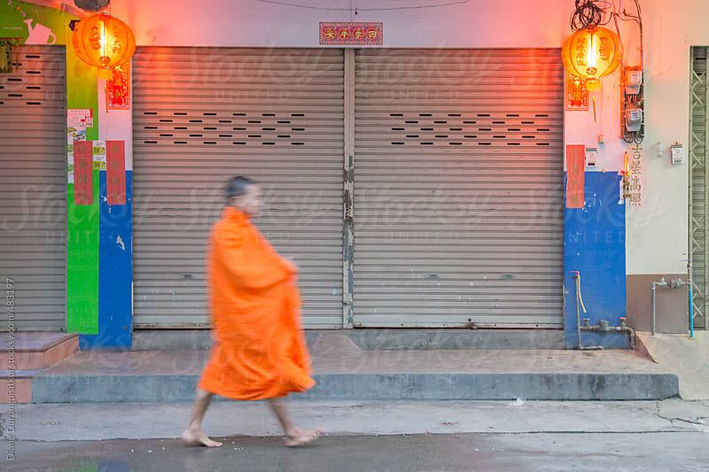 Morning Monk Walk by Diane Durongpisitkul for Stocksy United