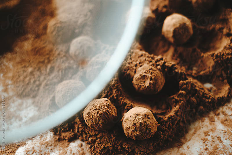 Craft chocolate truffles by Artem Zhushman for Stocksy United