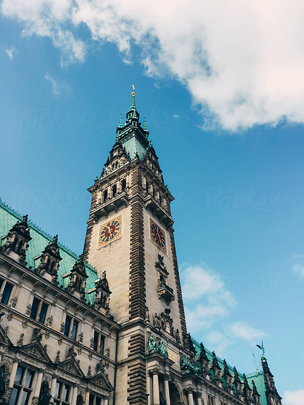 Hamburger Rathaus by Paperclip Images for Stocksy United