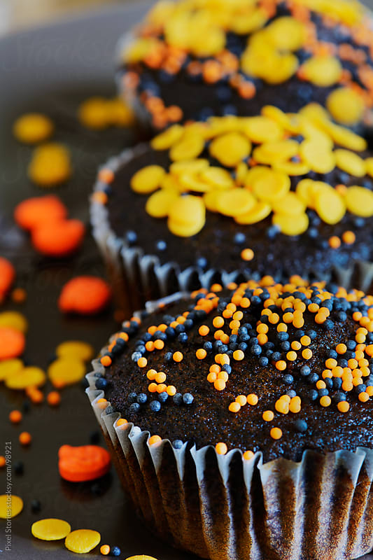 Halloween muffins by Pixel Stories for Stocksy United