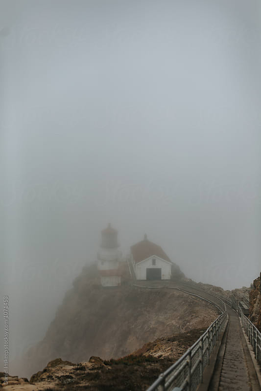 Point Reys Lighthouse in the Fog by Daniel Inskeep for Stocksy United