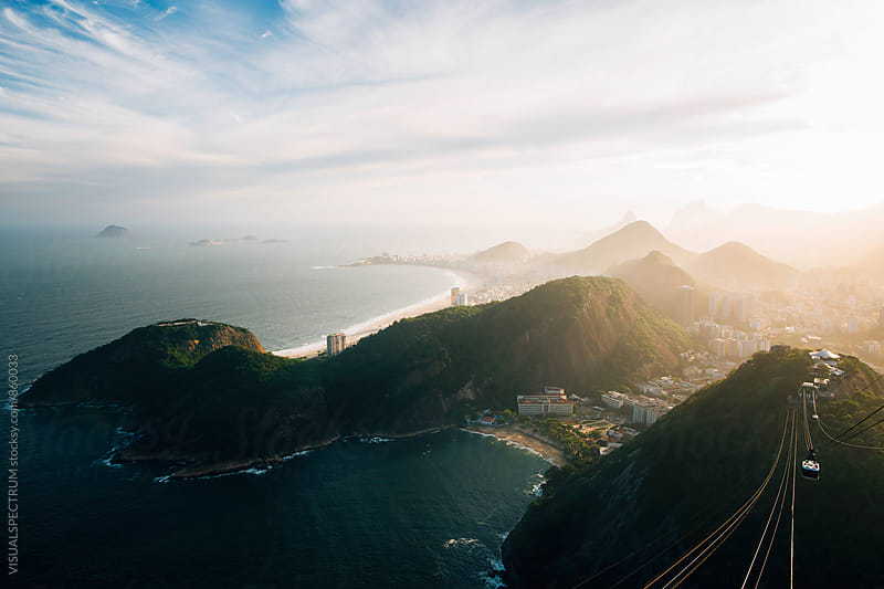 Rio de Janeiro's Copacabana and Ipanema Beach Seen From Sugarloaf by VISUALSPECTRUM for Stocksy United
