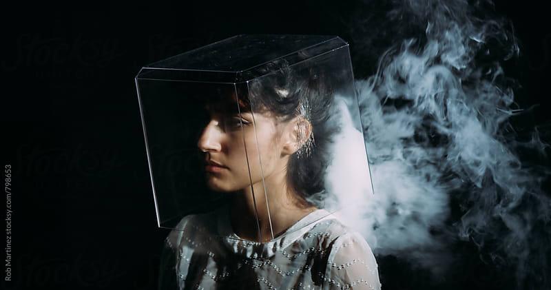 BOX OF SMOKE HEAD by Rob Martinez for Stocksy United
