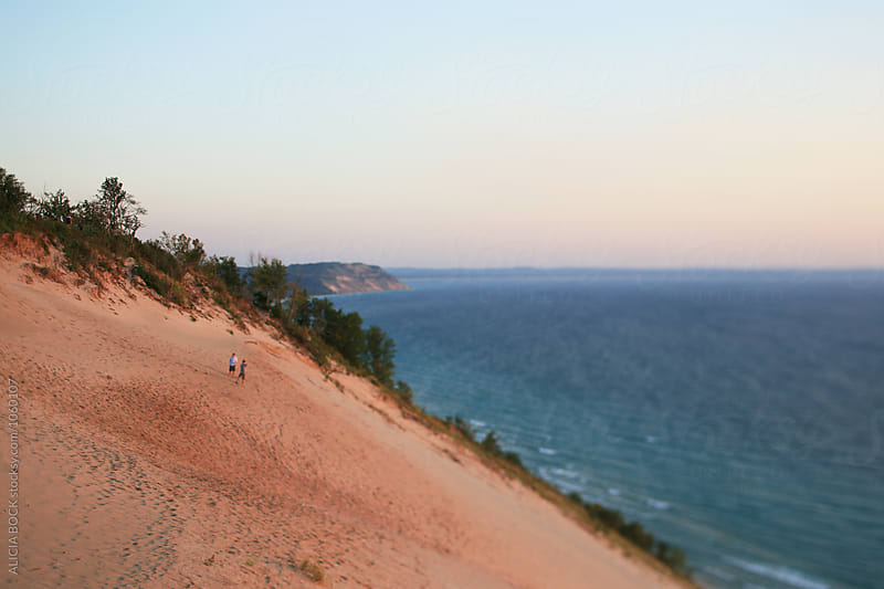 Sunset Over Sleeping Bear Dunes National Lakeshore by ALICIA BOCK for Stocksy United