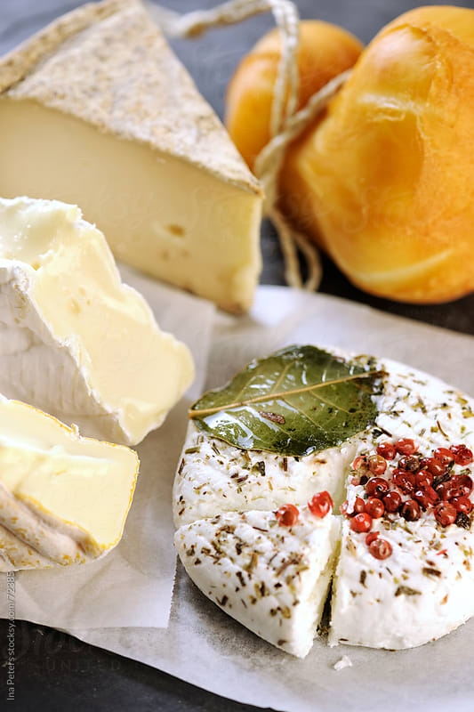 Variety of cheese by Ina Peters for Stocksy United
