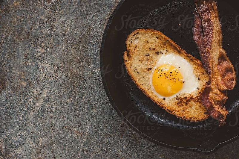 Fried Egg on Toast by Gabriel (Gabi) Bucataru for Stocksy United