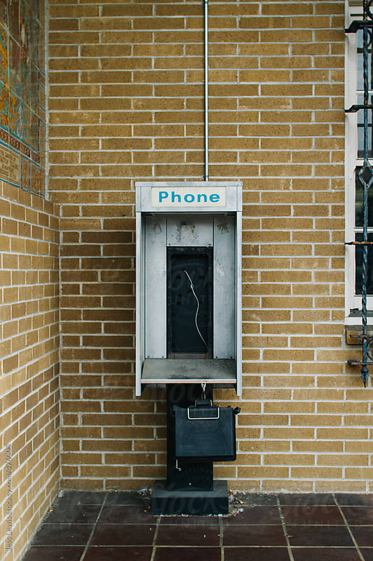 phoneless phone booth by Jess Lewis for Stocksy United