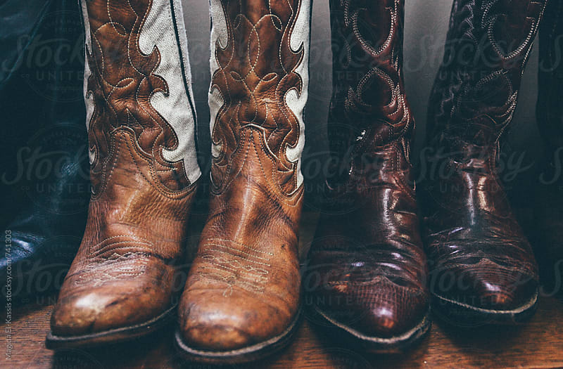 cowboy boots by Magida El-Kassis for Stocksy United