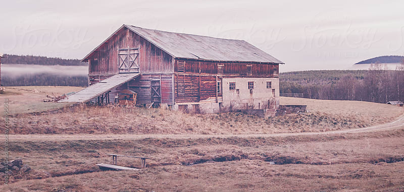old barn in the north of Scandinavia by Andreas Gradin for Stocksy United