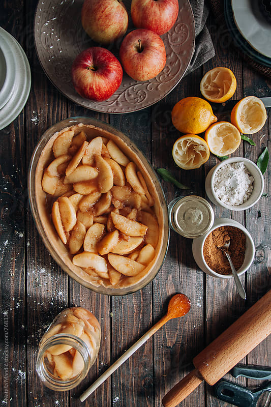 Making an apple pie by Nataša Mandić for Stocksy United