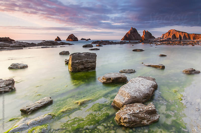 Sunset at The Arnía, Cantabria, in northern Spain by Marilar Irastorza for Stocksy United
