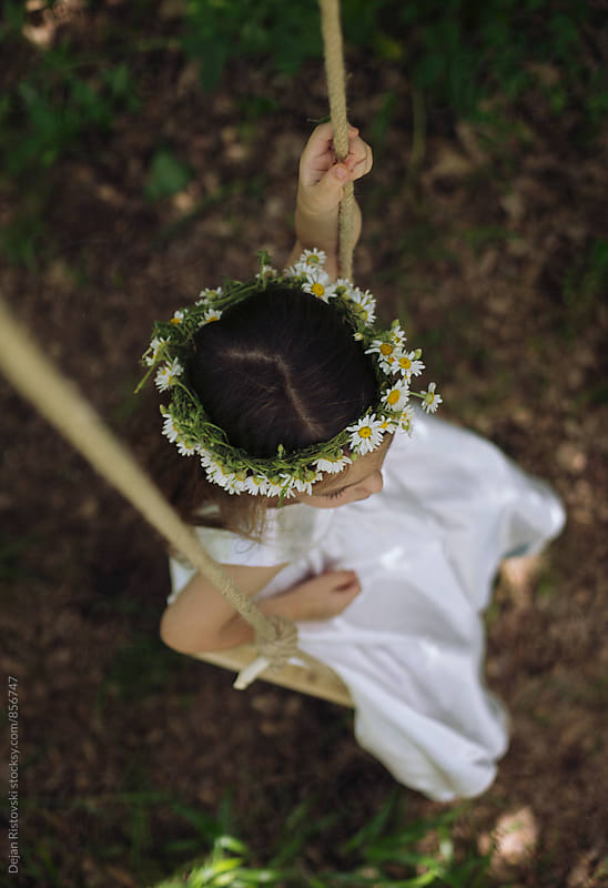 Beautiful girl with wreath. by Dejan Ristovski for Stocksy United
