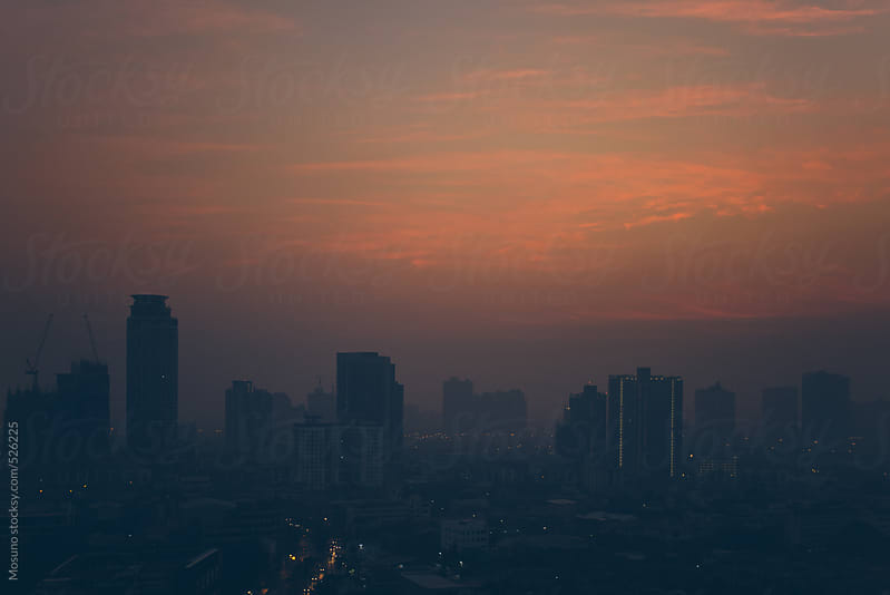 Dawn Above Bangkok City by Mosuno for Stocksy United