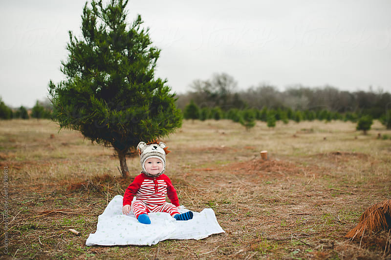 Baby on a blanket by Courtney Rust for Stocksy United