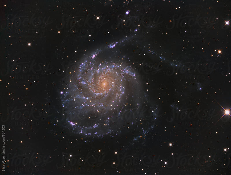M101 the Pinwheel galaxy by Sara Wager for Stocksy United