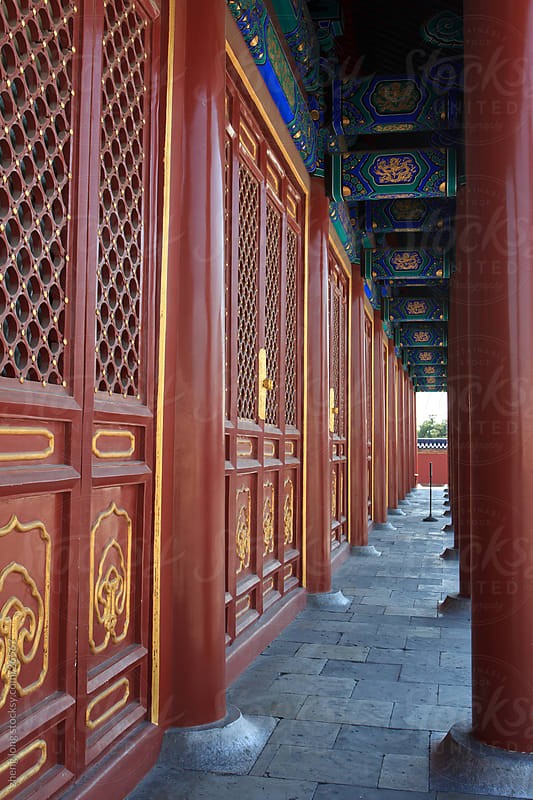Chinese classical style  Architecture by zheng long for Stocksy United