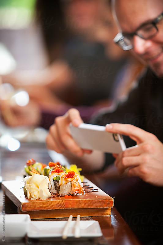 Sushi: Focus on Shrimp Sushi Roll by Sean Locke for Stocksy United