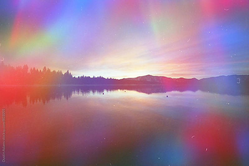 Lake Tahoe Prism Burst  by Dustin Adams for Stocksy United