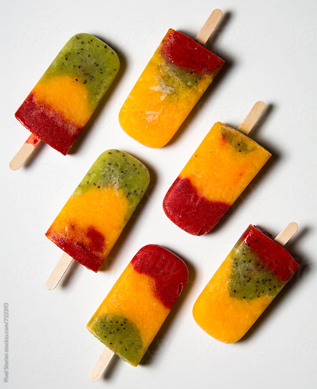 Homemade ice pops by Pixel Stories for Stocksy United