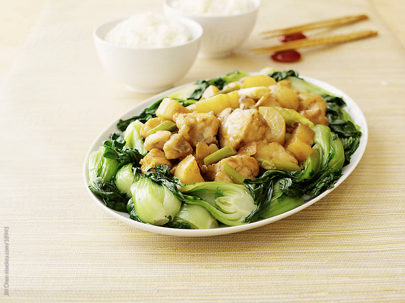 Fish and Bok Choy by Jill Chen for Stocksy United
