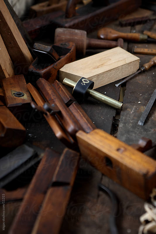 Traditional carpentry tools. by kkgas for Stocksy United
