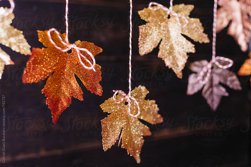 Hung fall leaves decoration by Gabriel (Gabi) Bucataru for Stocksy United