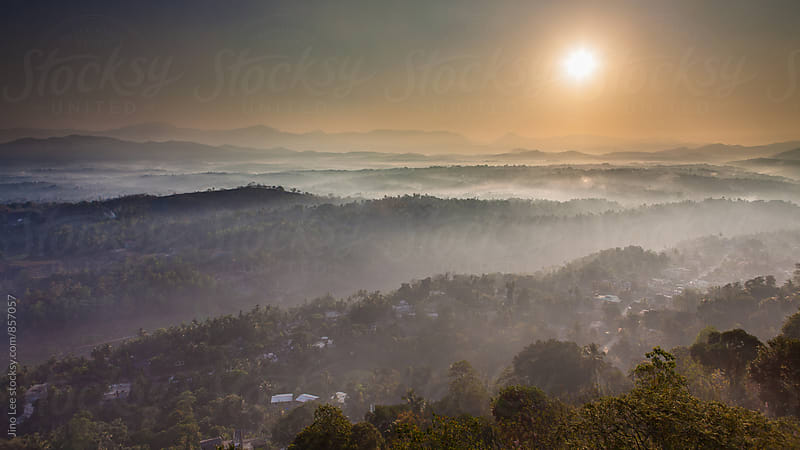 Sunrise over Kandy Sri Lanka by Jino Lee for Stocksy United
