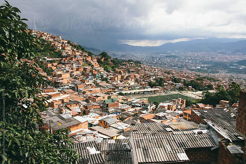 Cityscape - City view of Medellin slums, Colombia by Alejandro Moreno de Carlos for Stocksy United