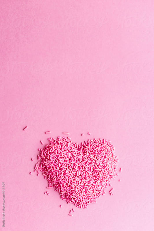 Sprinkles in a heart shape by Ruth Black for Stocksy United