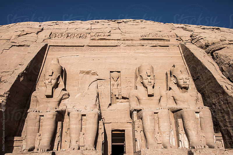 Entrance to a tomb in Egypt. by Mike Marlowe for Stocksy United