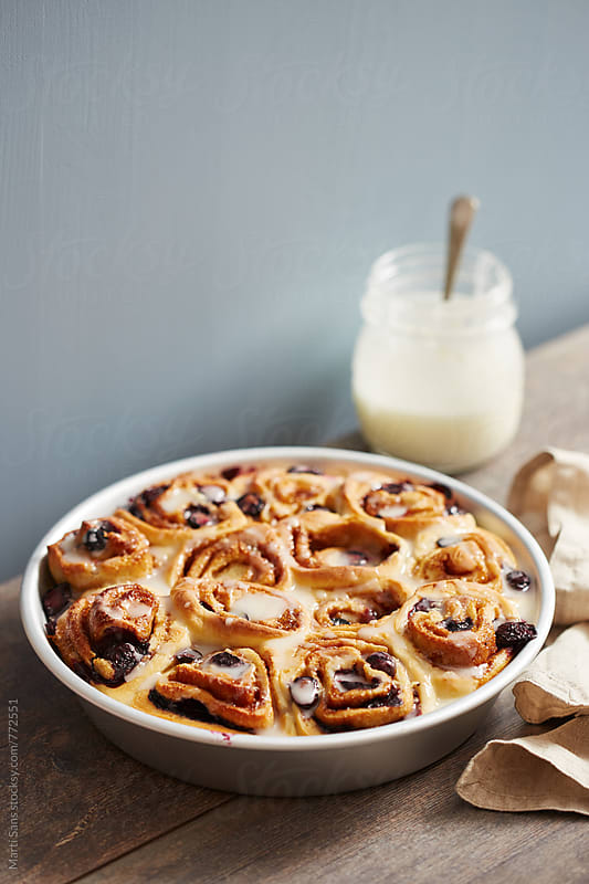 Homemade blueberry roll by Martí Sans for Stocksy United