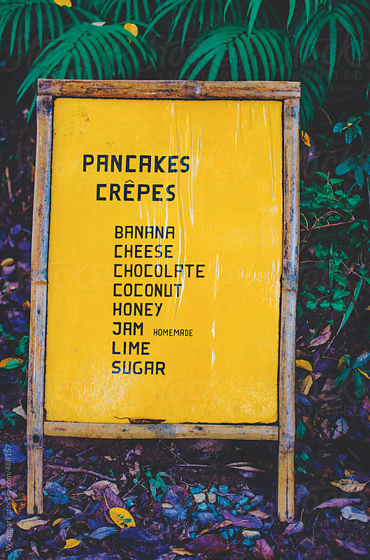 Pancakes/crepes menu by Wizemark for Stocksy United