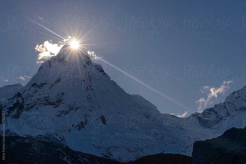 Sunrise at the summit of high mountain peak by Mick Follari for Stocksy United