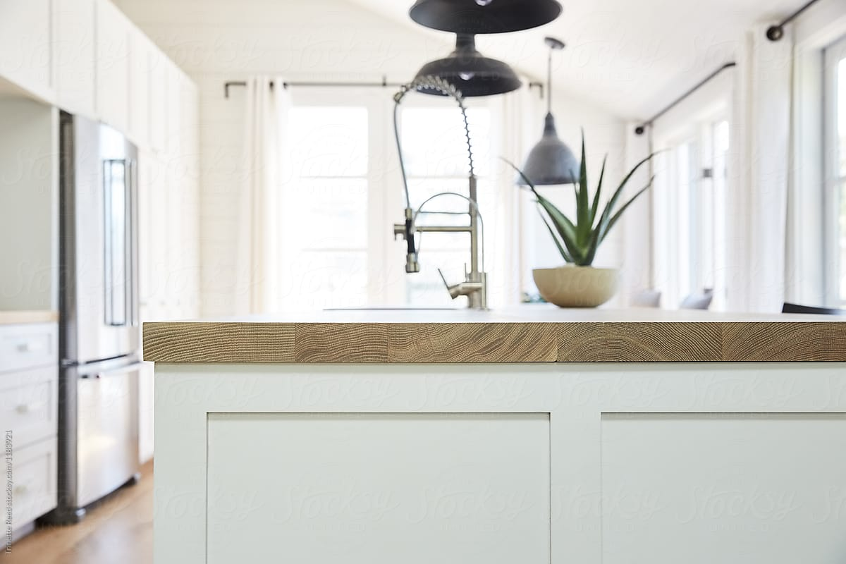 White Oak Wood Countertops In Modern Farmhouse Kitchen By Trinette Reed Countertop Wood Stocksy United,King Bedroom Furniture Sets