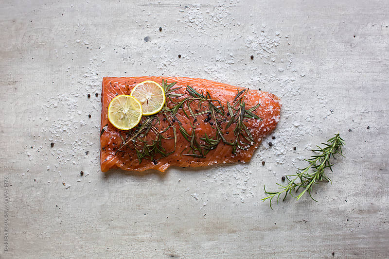 Raw salmon by Todd Beltz for Stocksy United