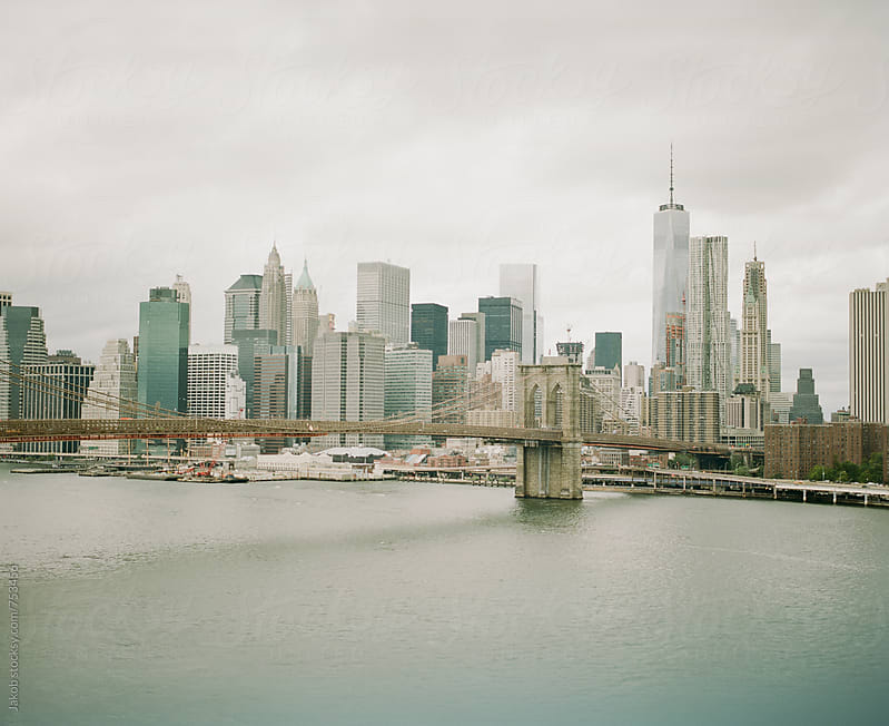 Brooklyn Bridge and New York City skyline by Jakob for Stocksy United