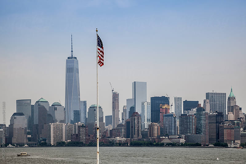 Manhattan Skyline in a Summer Day Viewed From Hudson River by Victor Torres for Stocksy United