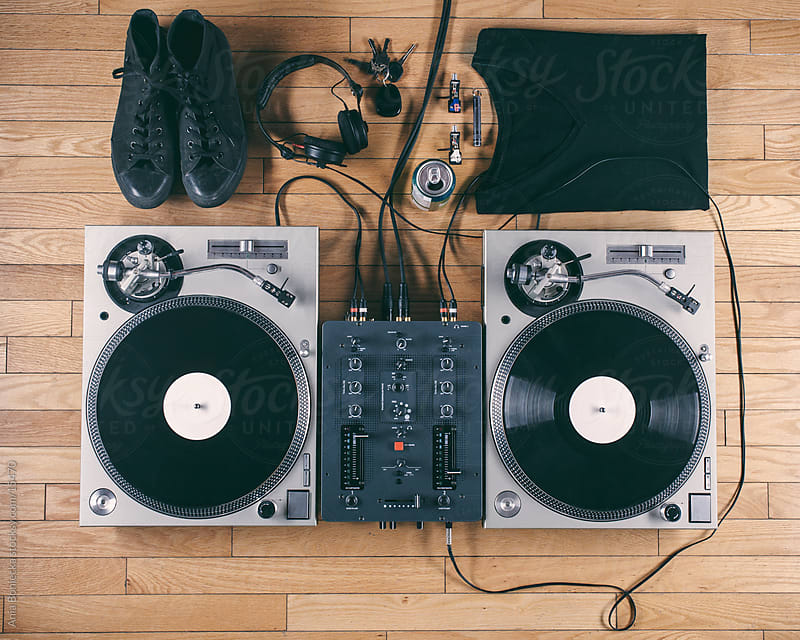 dj essentials from above by Ania Boniecka for Stocksy United