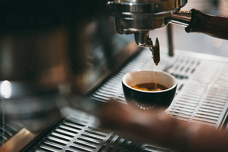 Espresso in the making  by Joel Bear Studios for Stocksy United