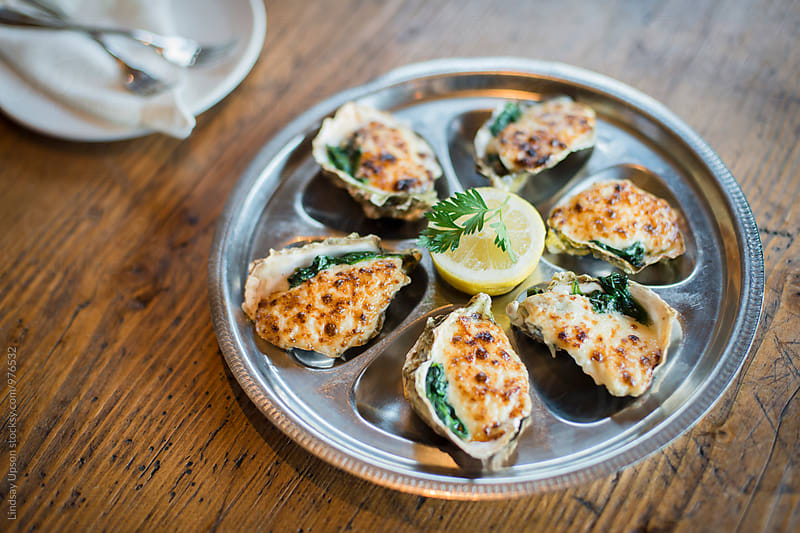 Baked Oysters by Lindsay Upson for Stocksy United