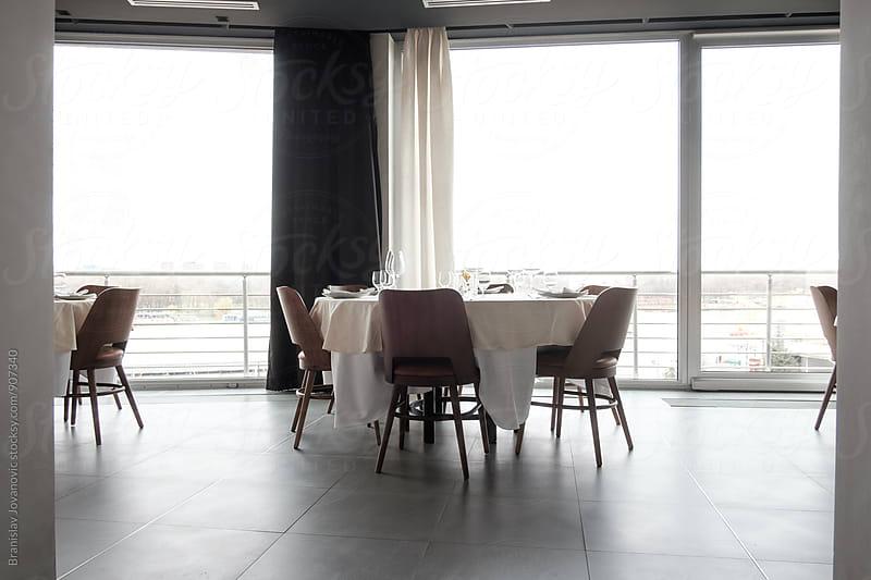 Interior of a Restaurant by Branislav Jovanović for Stocksy United