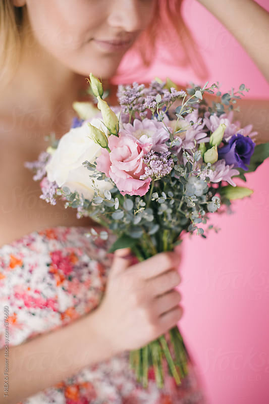 Close-up of beautiful bridal bouquet by Danil Nevsky for Stocksy United