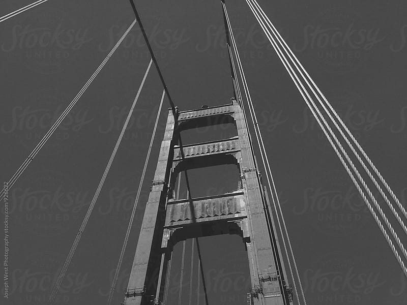Golden Gate Bridge tower by Joseph West Photography for Stocksy United