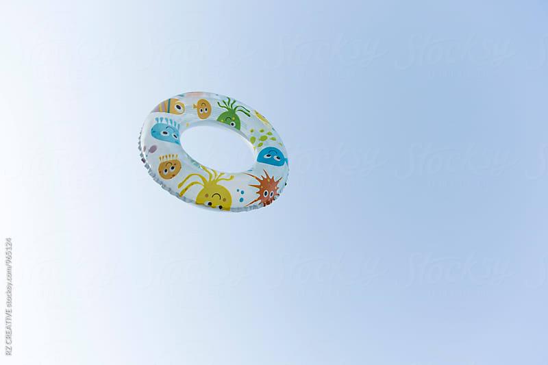 Pool float in the air. by Robert Zaleski for Stocksy United